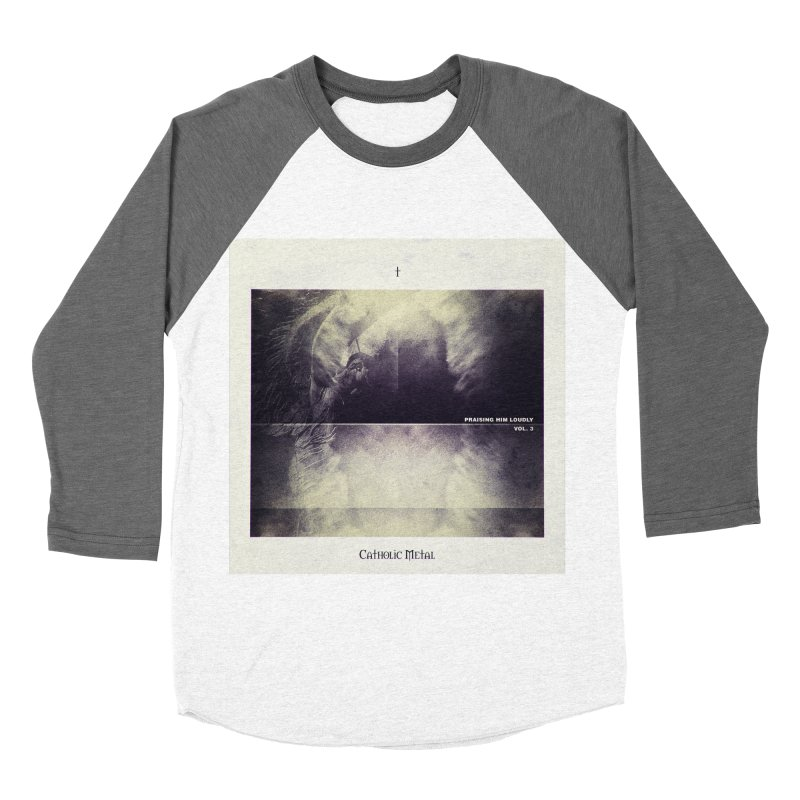 PHL3: Abstract Angel Men's Baseball Triblend Longsleeve T-Shirt by Catholic Metal Merch