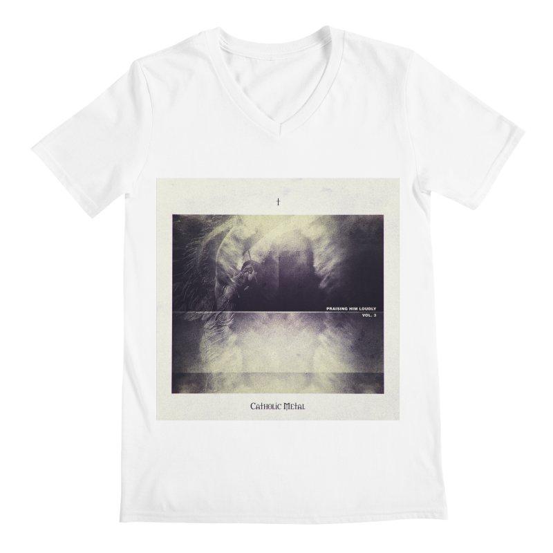 PHL3: Abstract Angel Men's V-Neck by Catholic Metal Merch