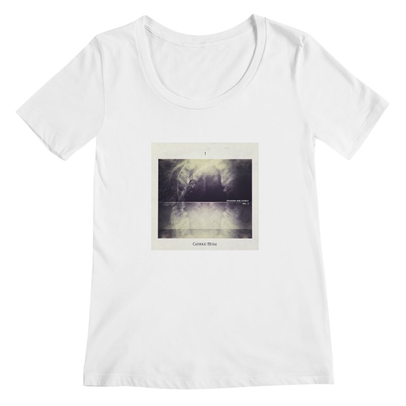 PHL3: Abstract Angel Women's Scoopneck by Catholic Metal Merch