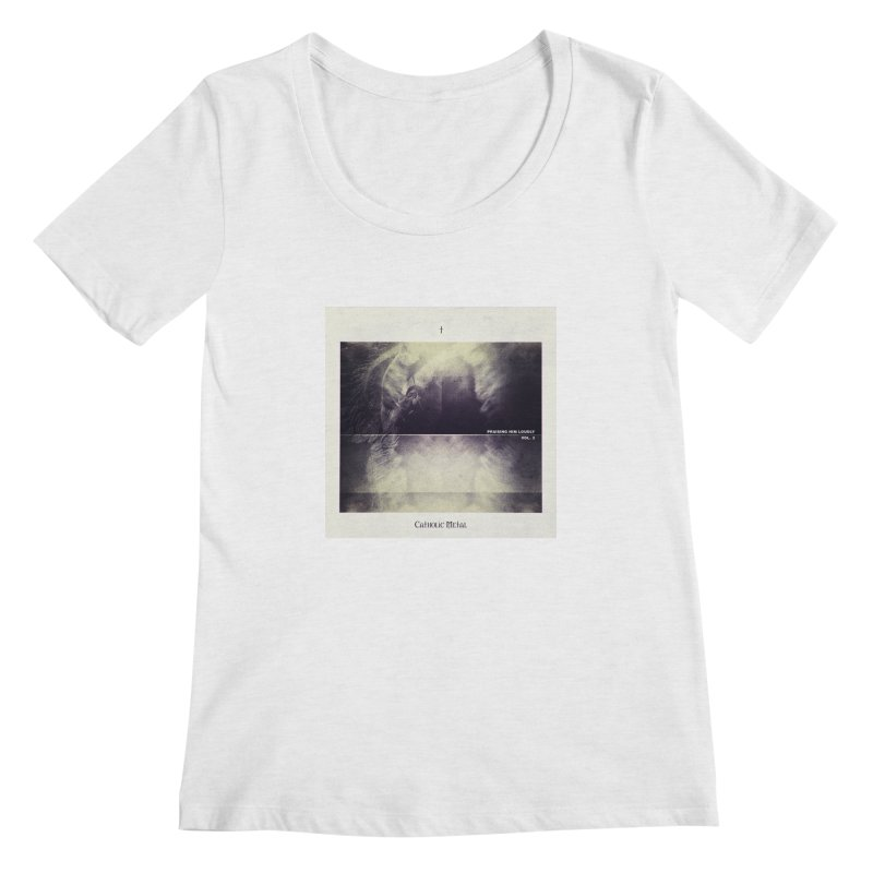 PHL3: Abstract Angel Women's Scoop Neck by Catholic Metal Merch
