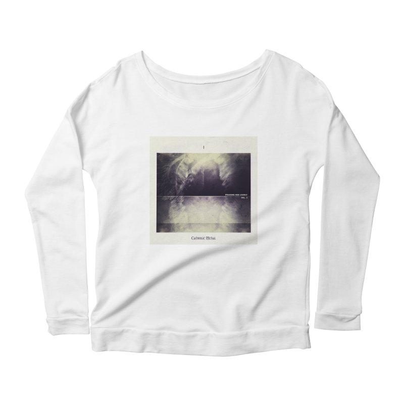 PHL3: Abstract Angel Women's Scoop Neck Longsleeve T-Shirt by Catholic Metal Merch