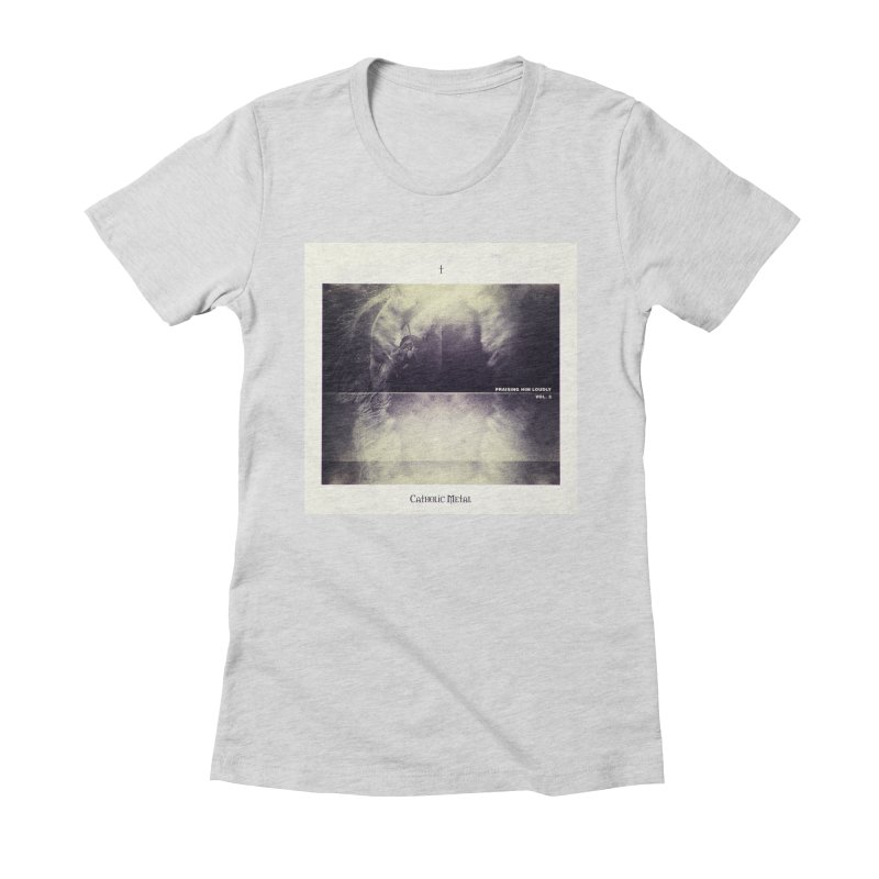 PHL3: Abstract Angel Women's Fitted T-Shirt by Catholic Metal Merch