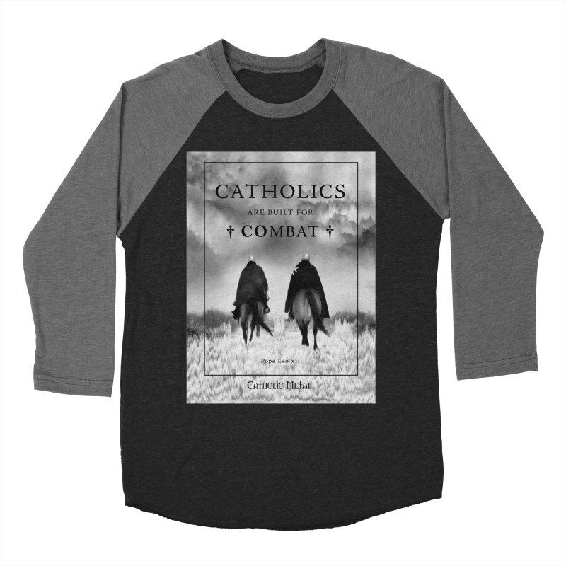 Catholics Are Built For Combat Women's Longsleeve T-Shirt by Catholic Metal Merch