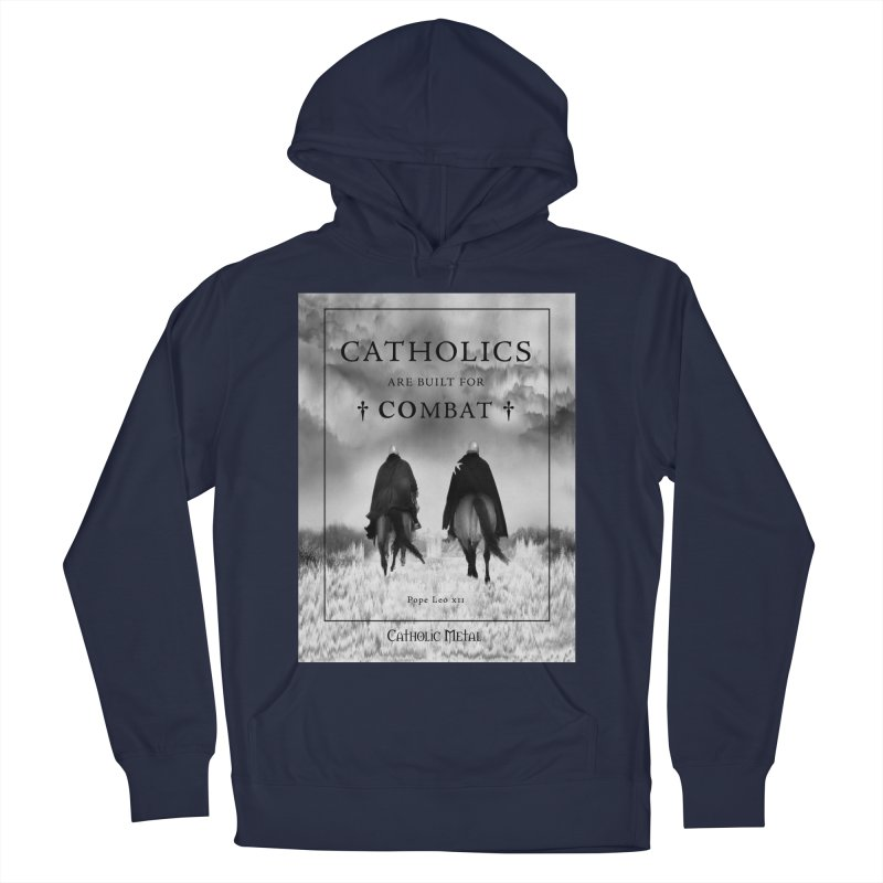 Catholics Are Built For Combat Women's French Terry Pullover Hoody by Catholic Metal Merch