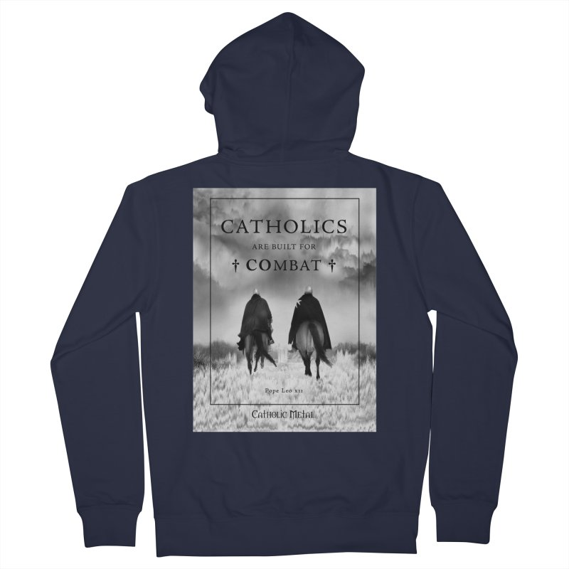Catholics Are Built For Combat Women's Zip-Up Hoody by Catholic Metal Merch