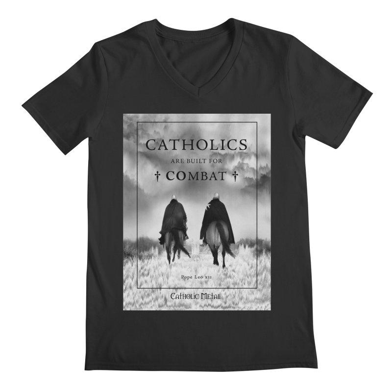 Catholics Are Built For Combat Men's V-Neck by Catholic Metal Merch