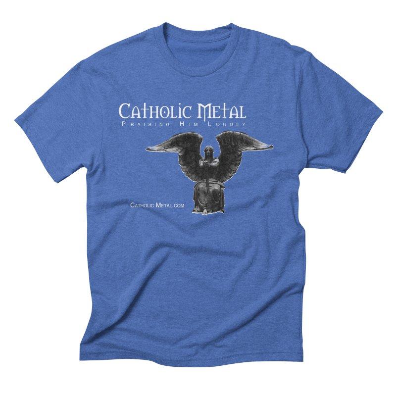 Classic Catholic Metal  Men's Triblend T-Shirt by Catholic Metal Merch