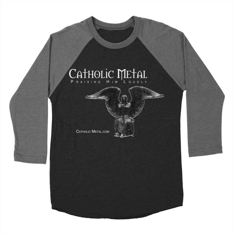 Classic Catholic Metal  Women's Baseball Triblend Longsleeve T-Shirt by Catholic Metal Merch
