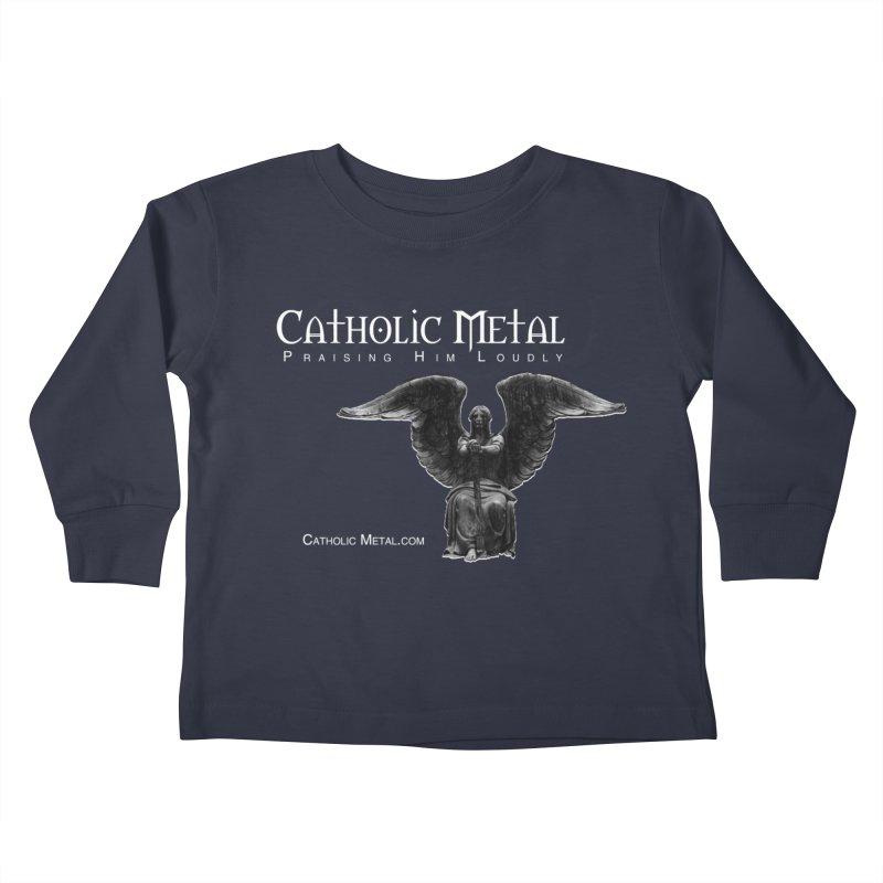 Classic Catholic Metal  Kids Toddler Longsleeve T-Shirt by Catholic Metal Merch