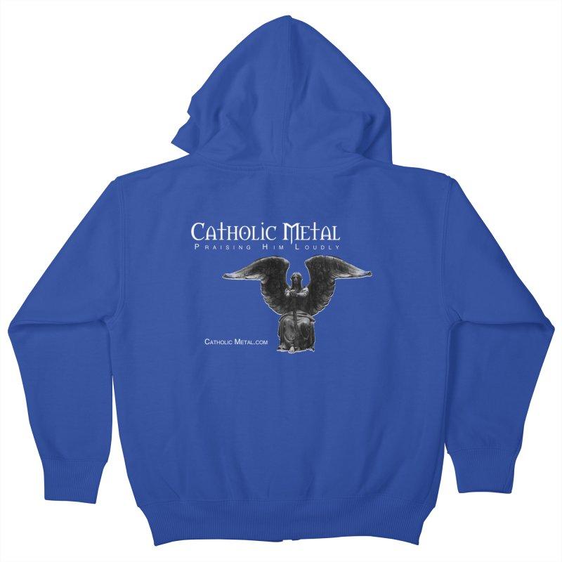 Classic Catholic Metal  Kids Zip-Up Hoody by Catholic Metal Merch