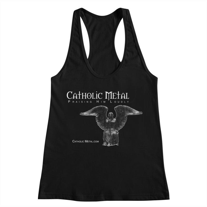 Classic Catholic Metal  Women's Racerback Tank by Catholic Metal Merch