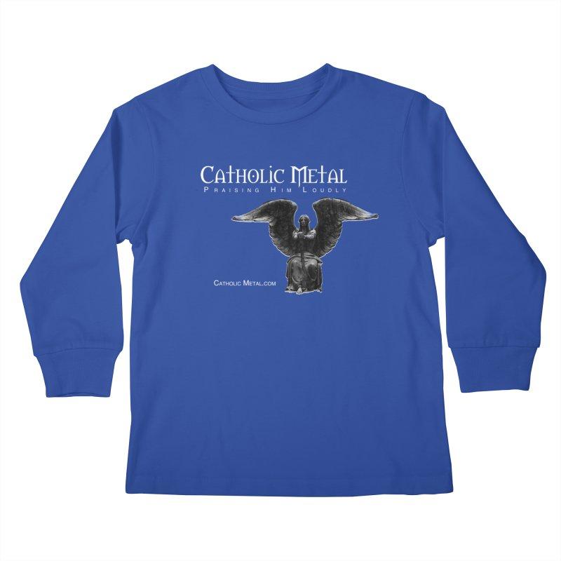 Classic Catholic Metal  Kids Longsleeve T-Shirt by Catholic Metal Merch