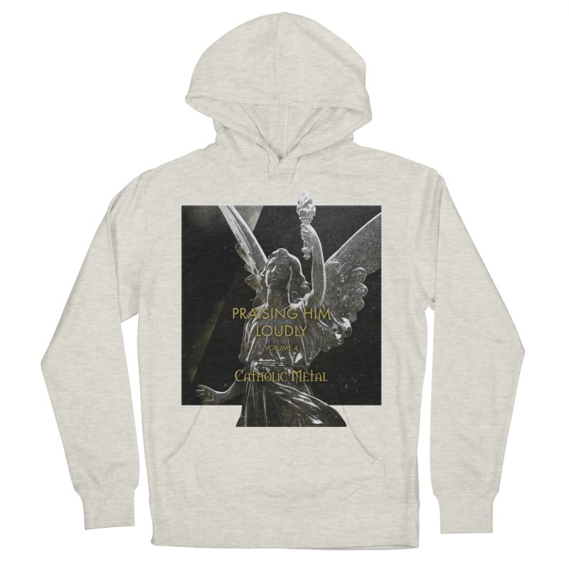 PHL4: Triumphant Angel Women's French Terry Pullover Hoody by Catholic Metal Merch