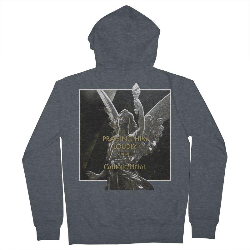 PHL4: Triumphant Angel Women's French Terry Zip-Up Hoody by Catholic Metal Merch