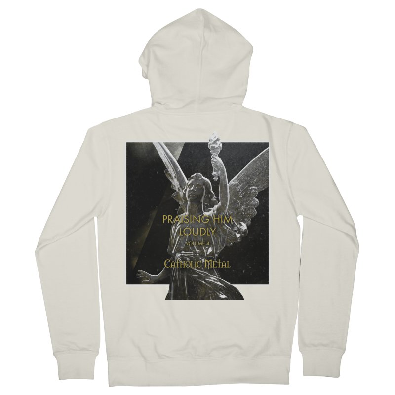 PHL4: Triumphant Angel Women's French Terry Zip-Up Hoody by Catholic Metal Merch