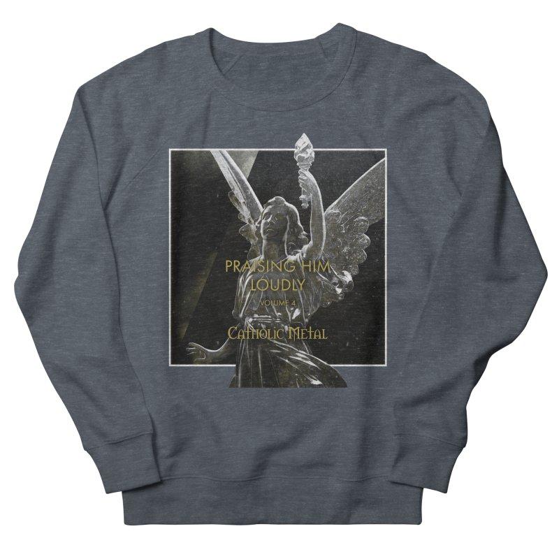 PHL4: Triumphant Angel Men's French Terry Sweatshirt by Catholic Metal Merch