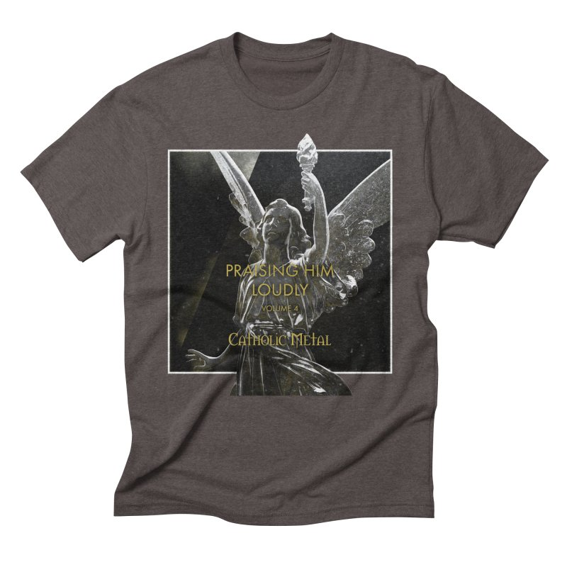 PHL4: Triumphant Angel Men's Triblend T-shirt by Catholic Metal Merch