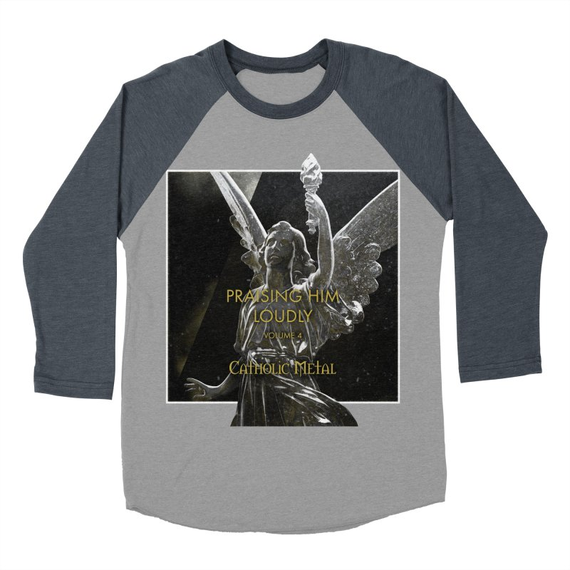 PHL4: Triumphant Angel Women's Baseball Triblend Longsleeve T-Shirt by Catholic Metal Merch