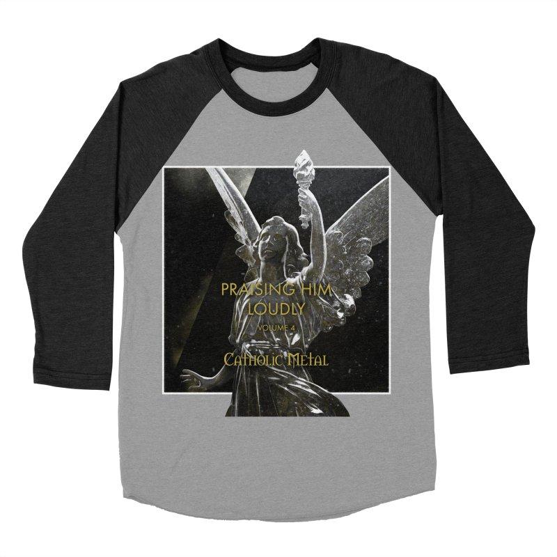 PHL4: Triumphant Angel Men's Baseball Triblend Longsleeve T-Shirt by Catholic Metal Merch
