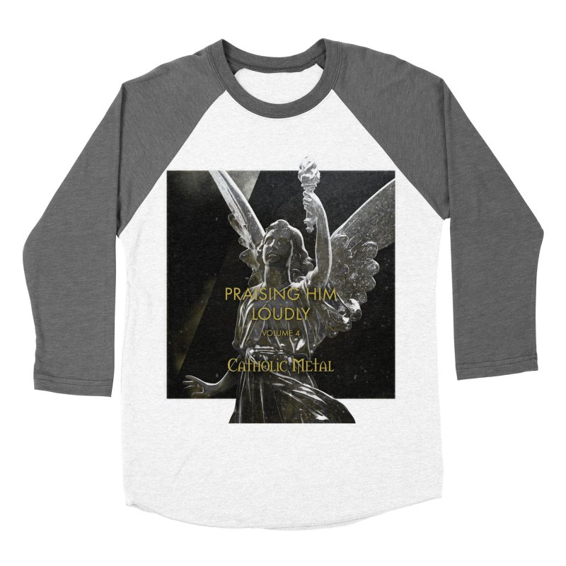 PHL4: Triumphant Angel Men's Baseball Triblend T-Shirt by Catholic Metal Merch