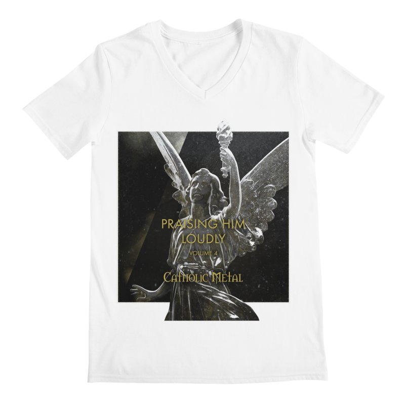 PHL4: Triumphant Angel Men's Regular V-Neck by Catholic Metal Merch