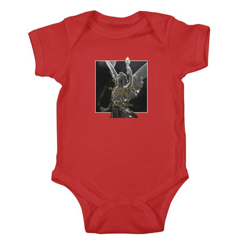 PHL4: Triumphant Angel Kids Baby Bodysuit by Catholic Metal Merch