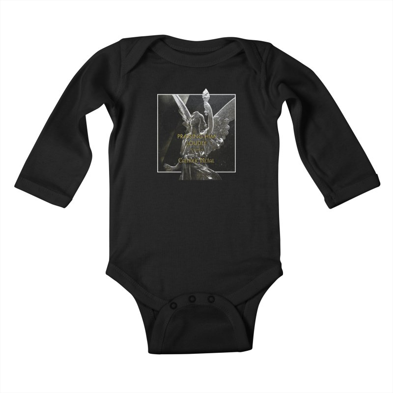 PHL4: Triumphant Angel Kids Baby Longsleeve Bodysuit by Catholic Metal Merch
