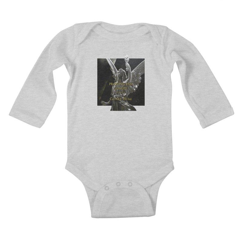 PHL4: Triumphant Angel Kids Baby Longsleeve Bodysuit by Catholic Metal Merch