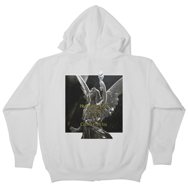 PHL4: Triumphant Angel Kids Zip-Up Hoody by Catholic Metal Merch