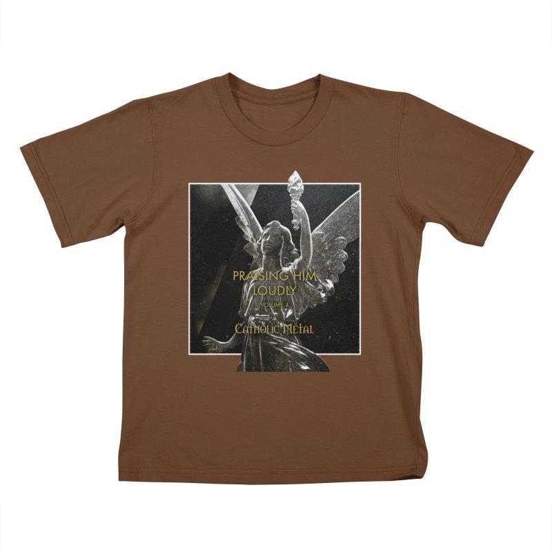 PHL4: Triumphant Angel Kids T-Shirt by Catholic Metal Merch