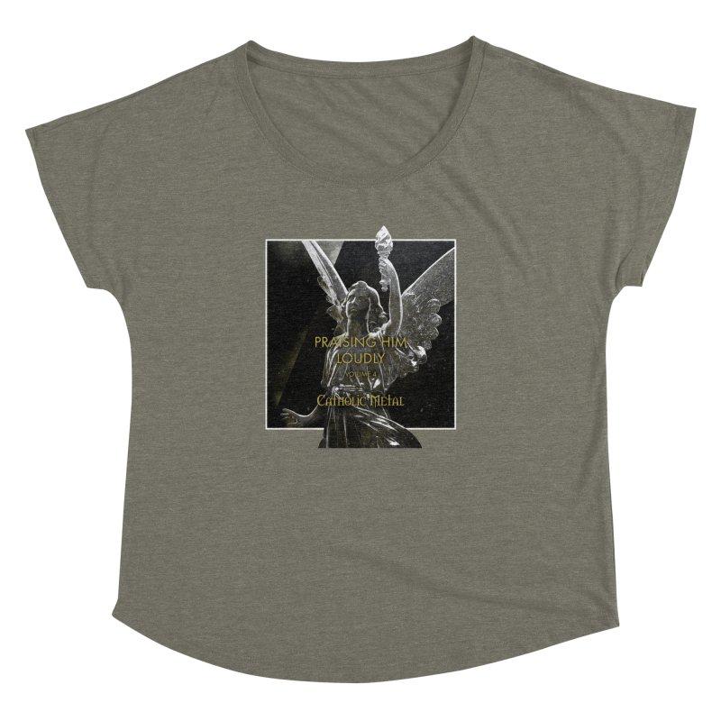 PHL4: Triumphant Angel Women's Dolman Scoop Neck by Catholic Metal Merch