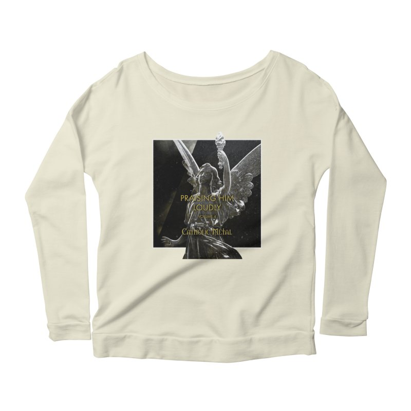 PHL4: Triumphant Angel Women's Longsleeve Scoopneck  by Catholic Metal Merch