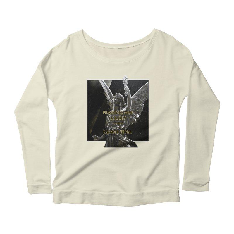 PHL4: Triumphant Angel Women's Scoop Neck Longsleeve T-Shirt by Catholic Metal Merch
