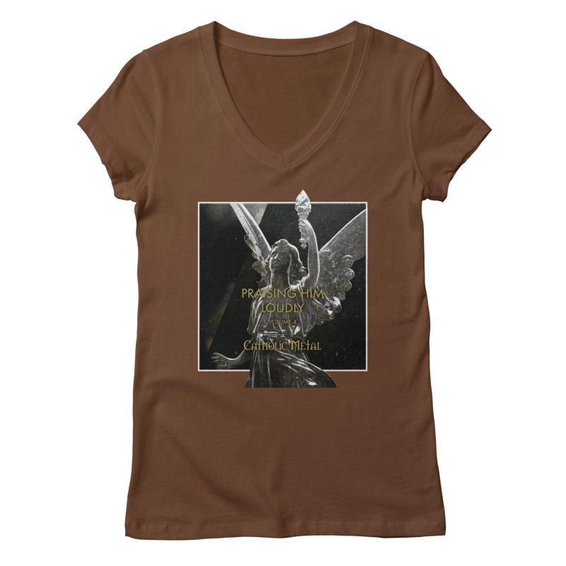 PHL4: Triumphant Angel Women's Regular V-Neck by Catholic Metal Merch