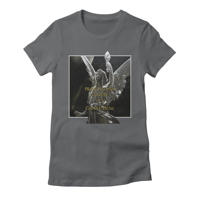PHL4: Triumphant Angel Women's Fitted T-Shirt by Catholic Metal Merch