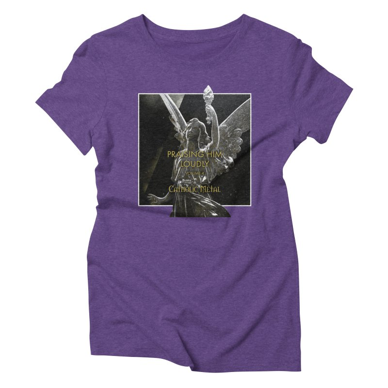 PHL4: Triumphant Angel Women's Triblend T-Shirt by Catholic Metal Merch