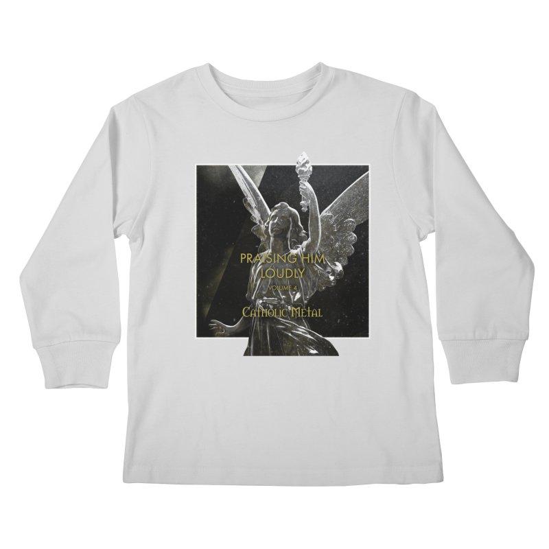 PHL4: Triumphant Angel Kids Longsleeve T-Shirt by Catholic Metal Merch