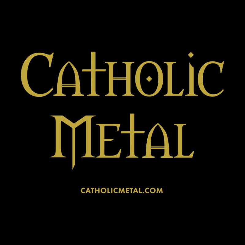 Catholic Metal Logo Men's Longsleeve T-Shirt by Catholic Metal Merch
