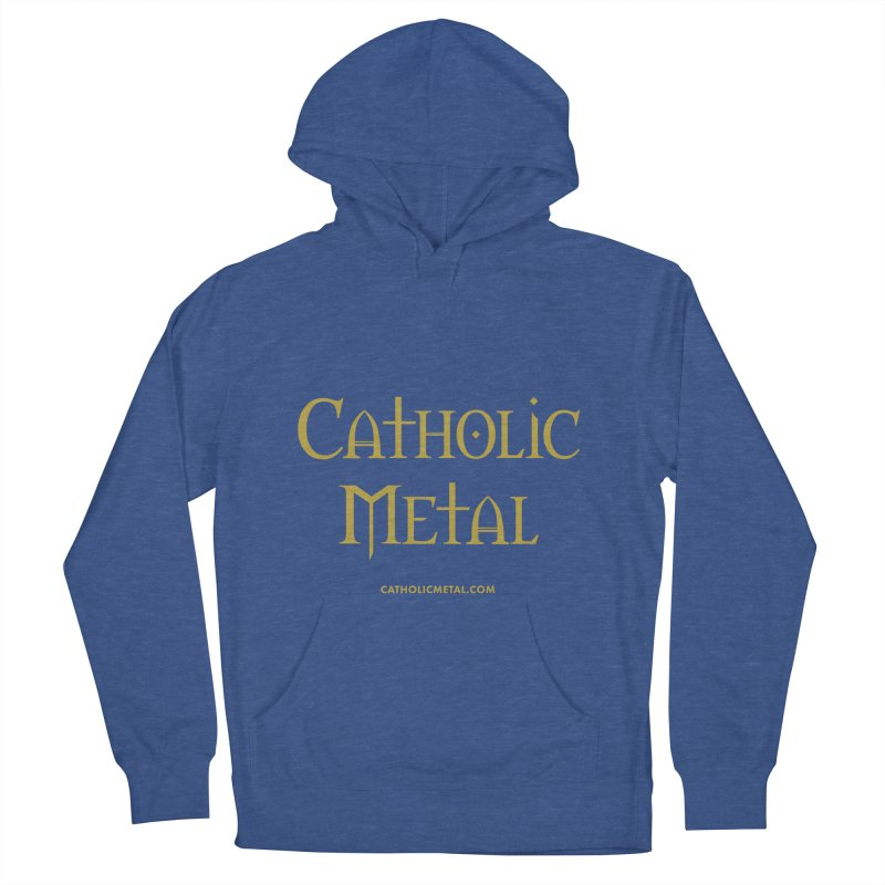 Catholic Metal Logo Men's French Terry Pullover Hoody by Catholic Metal Merch