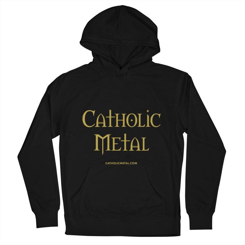 Catholic Metal Logo Men's French Terry Pullover Hoody by Catholic Metal Merch