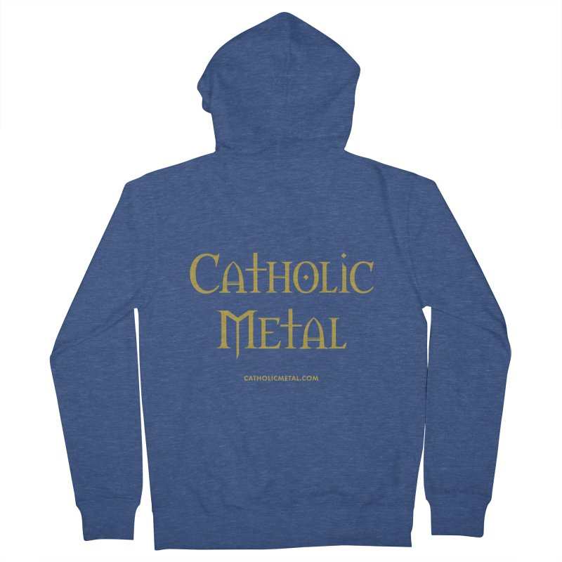 Catholic Metal Logo Men's Zip-Up Hoody by Catholic Metal Merch