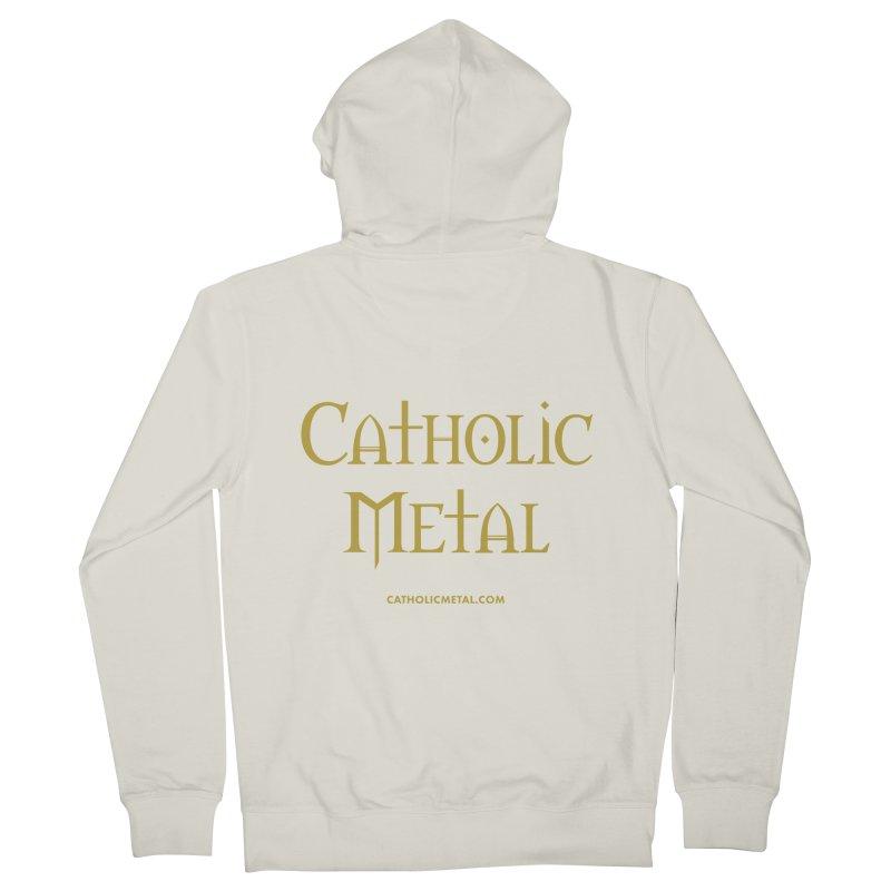 Catholic Metal Logo Men's Zip-Up Hoody by Catholic Metal Merch