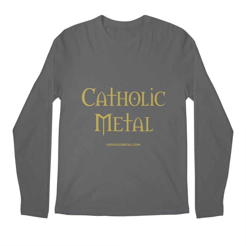 Catholic Metal Logo Men's Longsleeve T-Shirt by Catholic Metal Merch