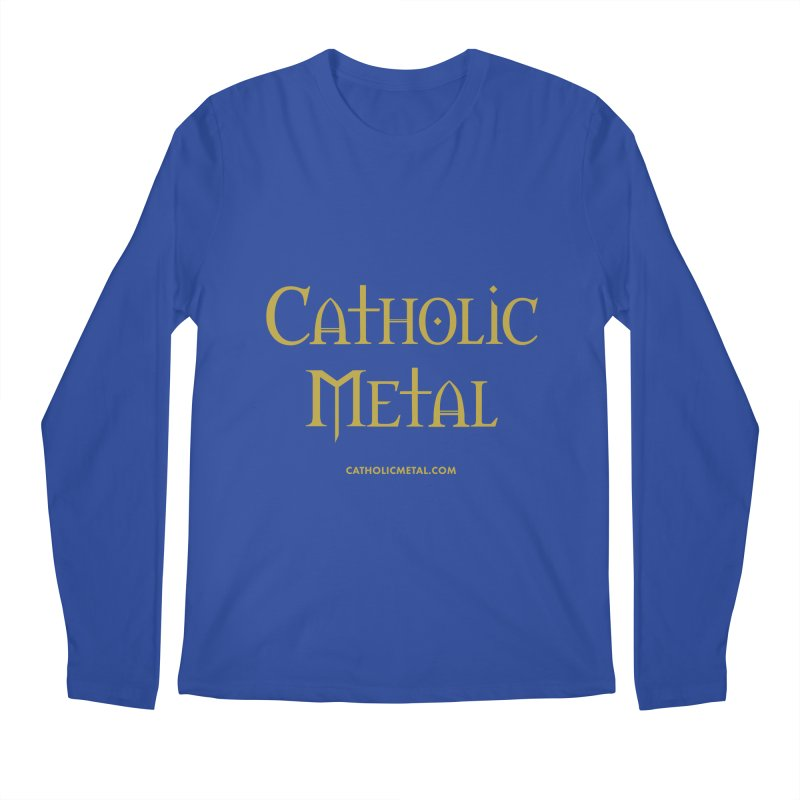 Catholic Metal Logo Men's Regular Longsleeve T-Shirt by Catholic Metal Merch