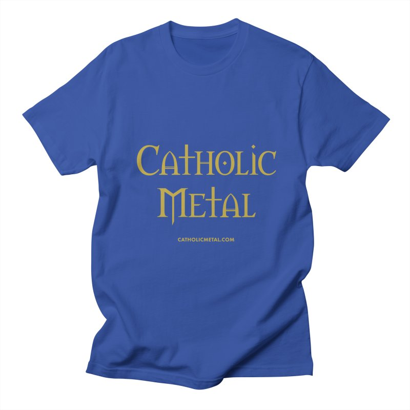 Catholic Metal Logo Men's Regular T-Shirt by Catholic Metal Merch