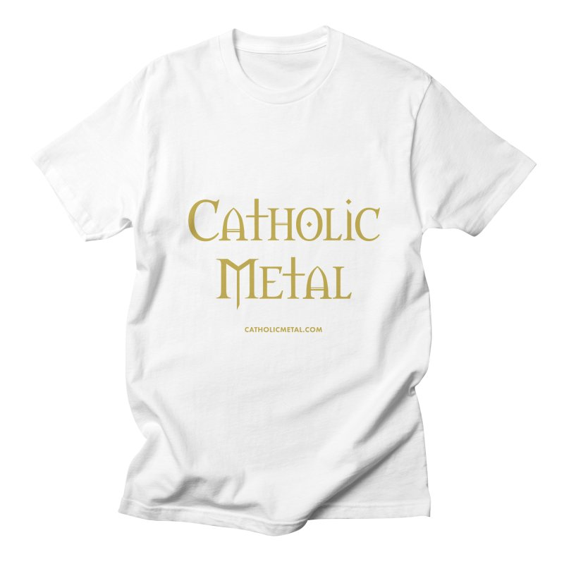 Catholic Metal Logo Men's Regular T-Shirt by Catholic Metal Merch