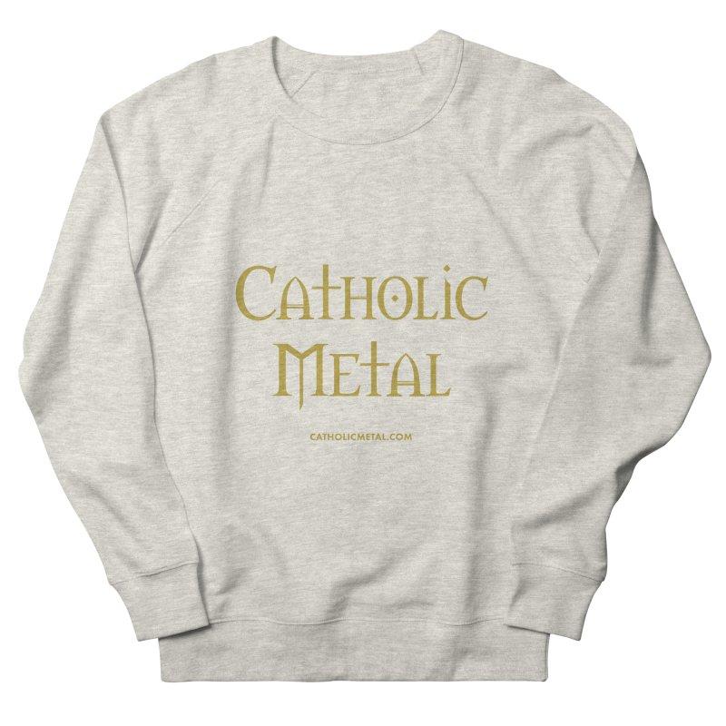 Catholic Metal Logo Women's French Terry Sweatshirt by Catholic Metal Merch