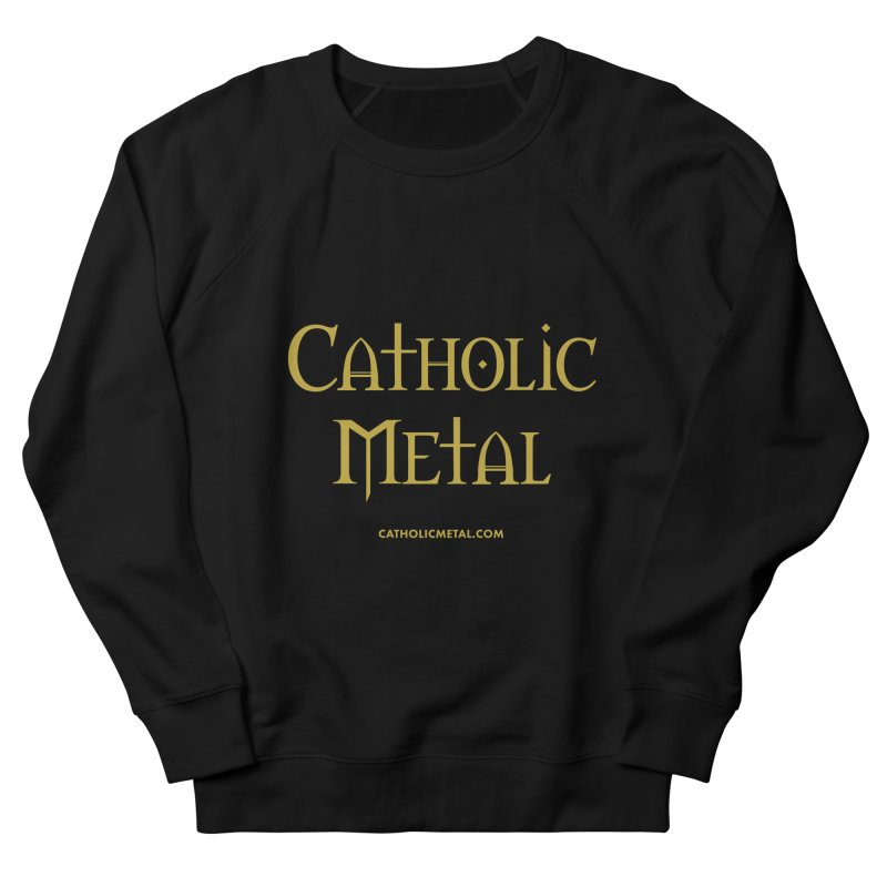 Catholic Metal Logo Men's French Terry Sweatshirt by Catholic Metal Merch