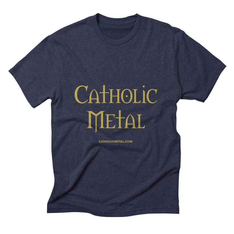 Catholic Metal Logo Men's T-Shirt by Catholic Metal Merch
