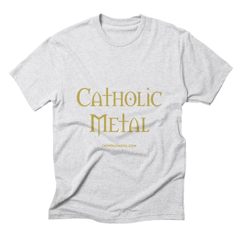 Catholic Metal Logo Men's Triblend T-Shirt by Catholic Metal Merch